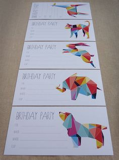 Birthday Party Invitations Children's invites by WhiteWillowPaper, $10.00