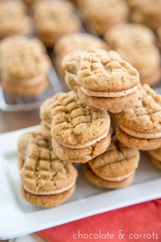 Homemade Nutter Butters - Yes please! Homemade Cookies, Yummy Cookies, Yummy Treats, Sweet Treats, Just Desserts, Delicious Desserts, Dessert Recipes, Yummy Food, Dessert Ideas