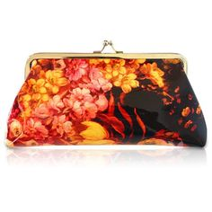 $4.44 Stylish Women's Clutch Wallet With Floral Print and Kiss-Lock Closure Design