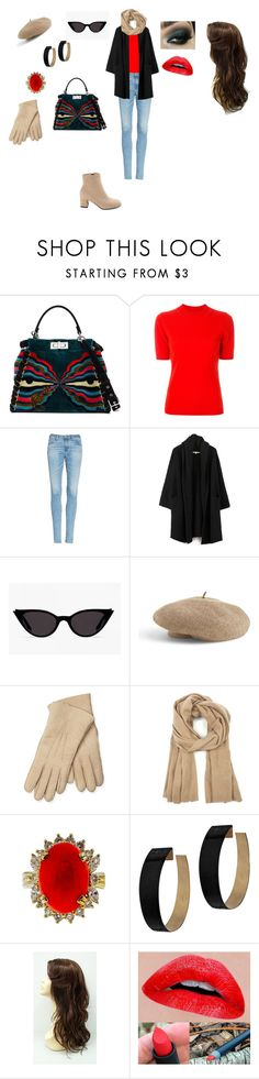 """Casual Outfit"" by helena94-1 on Polyvore featuring Fendi, Diane Von Furstenberg, AG Adriano Goldschmied, Venus, Maison Fabre, Sole Society, Zimmermann and polyvorefashion"