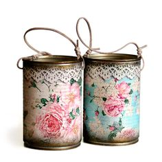 Ideas To Decoupage Tin Can Planters Amazing Ideas To Decoupage Tin Can Planters Decoupage Tins, Decoupage Vintage, Decoupage Ideas, Vintage Upcycling, Tin Can Art, Recycle Cans, Tin Can Crafts, Owl Crafts, Altered Tins