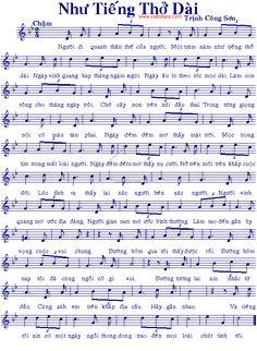 NhưTiếng Thở Dài - Music Sheet