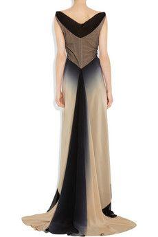 ZAC POSEN  Ombré silk gown  Was $3,800   Now $2,280