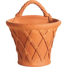 Whichford Pottery: Basket Wallpot - All Pots Garden Urns, Cement Planters, Gold Gilding, Terracotta Pots, Garden Inspiration, Flower Pots, Breathe, Garden Design, Basket