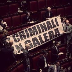 """""""Criminari in galera"""": la Lega e la protesta contro il Dl carceri http://tuttacronaca.wordpress.com/2014/02/06/criminari-in-galera-la-lega-e-la-protesta-contro-il-dl-carceri/"""