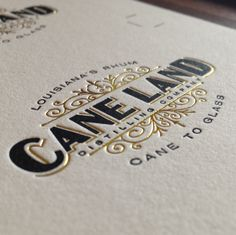 Letterpress and gold foil from Official Mfg. Co.