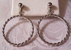 Twisted Rope Hoop Clip On Earrings Silver by PrettyJewelryThings, $29.00
