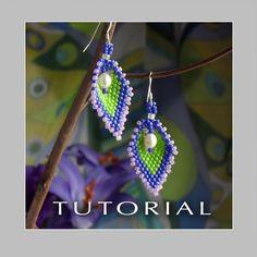 Beading Tutorial Russian Leaf Pearl Earrings by FrancescasFancy, $5.00