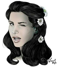 Lana Del Rey changed her IG profile pic to this 'Love' art piece by Kamil Bąk #LDR