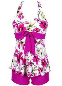 Halter Neck Bowknot Embellished Top and Rose Shorts
