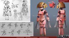 ArtStation - Ironkill App Game Concept Artwork -- Robot Loli, Jay Wong