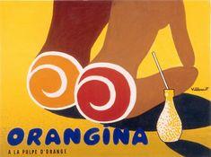 Striking Orangina poster created by graphic artist Bernard Villemot via http://www.creativebloq.com/posters/inspiring-examples-vintage-posters-12121442#