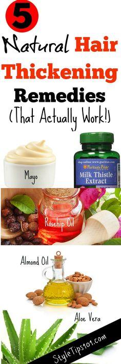 Hair Thickening Remedies