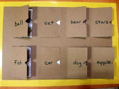 DIY Play, lift the flap. Great for practicing the sign for WHERE!