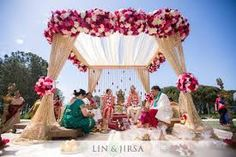 Image result for flowers for ceremony indian modern