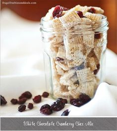 White Chocolate Cranberry Chex Mix- yum, this is TOO good, the perfect easy snack for the family or for gift giving.