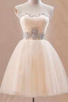 New Arrival Tulle Ball Gown Sweetheart Mini Prom Dress/Homecoming Dress/Graduation Dress/Formal Dress