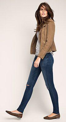 Esprit / Destroyed stretch-jeans