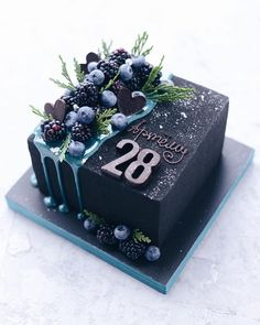 black square birthday cake Decoration Craft Gallery Ideas] Related posts:celestial wedding cakeUploaded fileLearn how to make gelatin bubbles in this CUTE gelatin balloon cake decorating v. Beautiful Birthday Cakes, Beautiful Cakes, Amazing Cakes, Food Cakes, Cupcake Cakes, Book Cupcakes, Drip Cakes, Pretty Cakes, Cute Cakes
