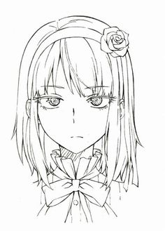 Manga Girl Drawing, Manga Drawing Tutorials, Anime Character Drawing, Anime Art Girl, Manga Art, Character Art, Anime Drawings Sketches, Anime Sketch, Cute Drawings