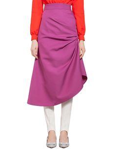 Puckered Skirt In Techno Gabardine | Marni