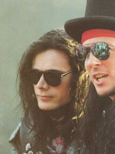 Andrew Eldritch and Tony James of The Sisters of Mercy.