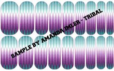 TRIBAL Custom Jamberry wraps by Amanda Imler #jamberrynails #nailartstudio