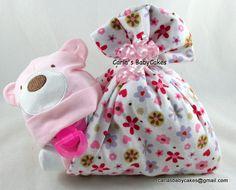 Stork Bundle Baby | Baby shower decoration | Baby Diaper Cake | Baby Shower Gift |New Baby Gift | Girl Diaper Cake | Bear diaper cake by MsCarlasBabyCakes on Etsy