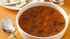 All from the store cupboard - not in microwave though! Recipes : Spicy Mexican bean soup
