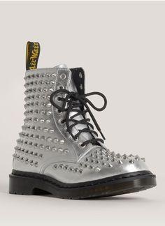 """Dr. Martens - """"Spike"""" studded metallic boots."""