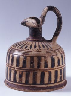 Oinochoe  clay  Greek (Corinthian)  Archaic period  550-540 BC