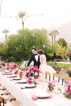 """After our photos, we got to peek in the backyard before everyone else did to see the tablescapes. We. Were. FLOORED! <br><a href=""""https://www.pinterest.com/pin/create/button/?url=http://studiodiy.com/our-wedding/&media=http://studiodiy.com/wp-content/uploads/2016/06/Studio-DIY-Wedding-12.jpg&description=Our Wedding!"""" target=""""_blank"""" id=""""pinit"""">PIN IT!</a>"""