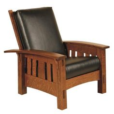 Amish McCoy Mission Morris Chair Enjoy the luxury of the McCoy. Available in custom fabric or leather, along with a variety of wood types and stains to pick from. Build the dream chair you've always wanted. This chair is made in America in an Amish woodshop. #recliner #livingroom #loungechair At Home Furniture Store, Amish Furniture, Furniture Plans, Custom Furniture, Luxury Furniture, Vintage Furniture, Living Room Furniture, Modern Furniture, Outdoor Furniture