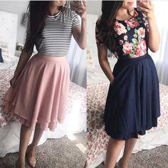 Skirt Modest Outfits Shoes 47 Ideas For 2019 Cute Dresses, Casual Dresses, Casual Outfits, Cute Outfits, Rock Outfits, Modest Summer Outfits, Spring Outfits, Outfit Summer, Dress Summer