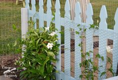 Wooden picket fence panels, an outdoor deck, and a new flower bed are some of the changes we're making to our garden Picket Fence Panels, Blue Garden, Garden Architecture, Pallets Garden, Garden Trellis, Bright Green, Garden Furniture, Garden Design, Cottage