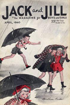 Rain. Jack and Jill Magazine, April 1940
