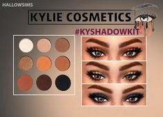 HallowSims's kyshadowkit on tumblr.inspired by kylie cosmetics.