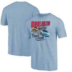 Darlington Raceway Fanatics Branded Too Tough To Tame Tri-Blend T-Shirt - Light Blue