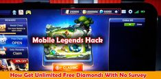 Free Diamonds No Survey Mobile Legends — Mobile Legends Hack Without Human Verification Mobile Legends Mod APK — Mobile Legends Free Diamonds How to Get Free Diamonds on Mobile Legends Without. Legend Mobile, Moba Legends, Ios, Episode Choose Your Story, App Hack, Iphone Mobile, Free Gems, Hack Online, Bang Bang