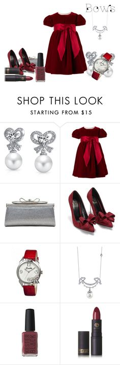 """bows"" by alibaba-i ❤ liked on Polyvore featuring Bling Jewelry, Judith Leiber, Bertha, Kester Black and Lipstick Queen"