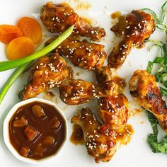 Slow Cooker Thai Chicken Wings with Peanut Sauce