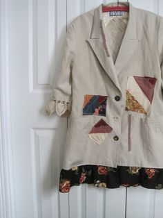 RESERVEDBoho+Jacket+dress+wearable+art+jacket+boho+by+ShabyVintage,+$52.90