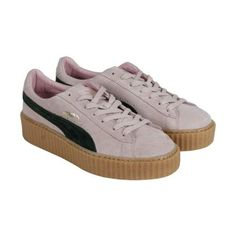 3bdb16289216aa Puma Suede Creepers Coral Cloud Pink Ultramarine Green Oatmeal Womens Lace  Up Sneakers Suede Creepers