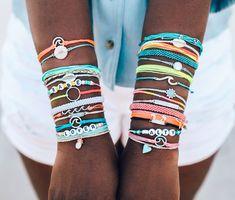 Summer Bracelets, Cute Bracelets, Braided Bracelets, Summer Jewelry, Trendy Jewelry, Cute Jewelry, Bracelet Patterns, Bracelet Designs, Homemade Bracelets