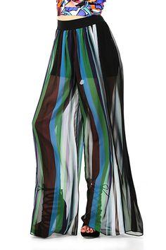 Hanita - Pantaloni - Abbigliamento - Gonna pantalone a vita alta con pantaloncini a sottoveste. Gamba ampia. - BLUETTE - € 149.00