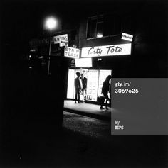Night time on the streets of Soho, 1966