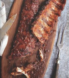 Honey chipotle ribs, from Patis Mexican Table by Pati Jinich, balance sweet and sour.