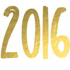 #2016 #typography #gold #handwritten