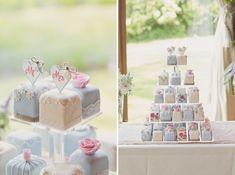 Wedding Fondant Fancy Cake http://www.cottoncandyweddings.co.uk/