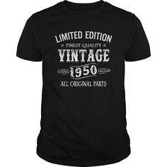Vintage Birthday 67th T-shirt -- Made in 1950 Limited Edition Gift -- 2017 Shirts, Long Sleeve, Hoodie, Hat, V-neck